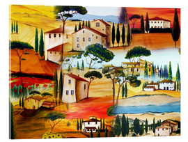 Cuadro de metacrilato  Tuscany Collage - Christine Huwer