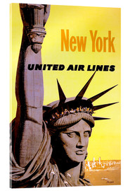Cuadro de metacrilato  New York United Air Lines - Travel Collection