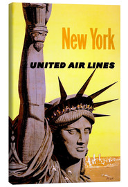 Lienzo  New York United Air Lines - Travel Collection