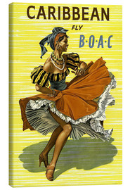 Lienzo  Caribbean Fly BOAC - Travel Collection
