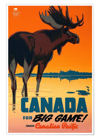 Póster  Canada travel for big game - Travel Collection