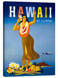 Lienzo  Hawaii by Clipper vintage travel - Travel Collection