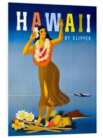 Cuadro de PVC  Hawaii by Clipper vintage travel - Travel Collection