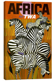 Lienzo  Africa Fly TWA - Travel Collection
