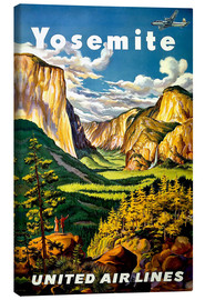 Lienzo  Yosemite United Air Lines - Travel Collection