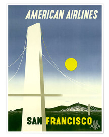 Póster  American Airlines San Francisco - Travel Collection