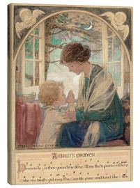 Lienzo  A Child's Prayer - Jessie Willcox Smith