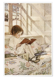 Póster  Picture Books in Winter - Jessie Willcox Smith