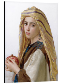 Cuadro de aluminio  Girl with a pomegranate - William Adolphe Bouguereau