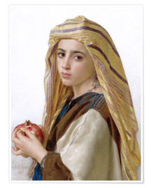 Póster  Girl with a pomegranate - William Adolphe Bouguereau