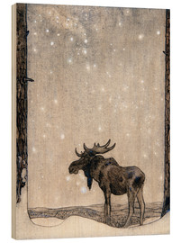 Madera  Elk in the Snow - John Bauer