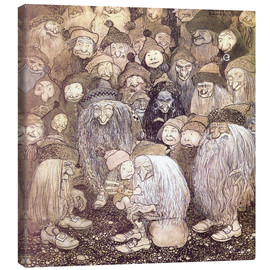 Lienzo  The trolls and the gnome boy - John Bauer