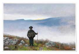 Póster  Far, far away Soria Moria Palace shimmered like Gold - Theodor Kittelsen
