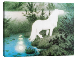 Lienzo  The Nix as a white horse - Theodor Kittelsen