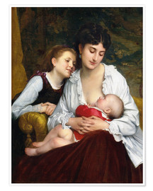 Póster  Motherly Love - Leon Bazile Perrault