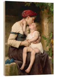 Cuadro de madera  Mother and Child - Leon Bazile Perrault