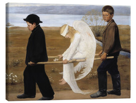 Lienzo  The Wounded Angel - Hugo Simbert