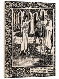 Cuadro de madera  The Lady of the Lake and Arthur - Aubrey Vincent Beardsley