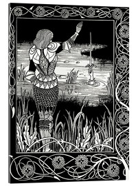 Cuadro de metacrilato  How Sir Bedivere Cast the Sword Excalibur into the Water - Aubrey Vincent Beardsley