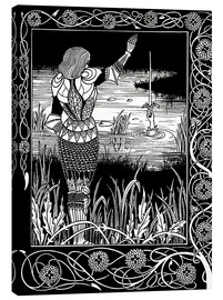 Lienzo  How Sir Bedivere Cast the Sword Excalibur into the Water - Aubrey Vincent Beardsley