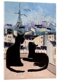 Cuadro de metacrilato  Cats and doves over Paris - JIEL