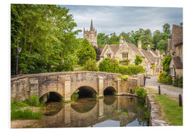 Cuadro de PVC  The village of Castle Combe, Wiltshire (England) - Christian Müringer