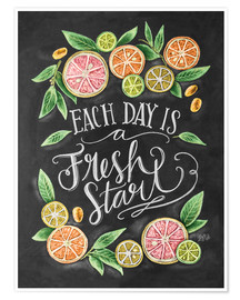 Póster Each Day is a Fresh Start
