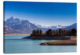 Lienzo  Lake in Bavaria with Alps - Michael Helmer