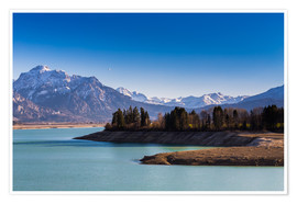 Póster  Lake in Bavaria with Alps - Michael Helmer