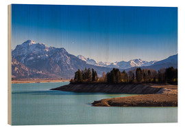 Cuadro de madera  Lake in Bavaria with Alps - Michael Helmer