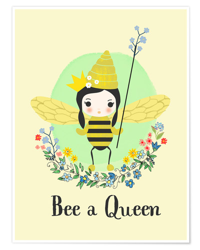Póster Bee a queen