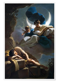 Póster Selene and Endymion