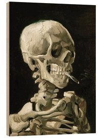Madera  Skeleton with a burning cigarette - Vincent van Gogh