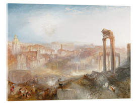Cuadro de metacrilato  Roma moderna - Joseph Mallord William Turner
