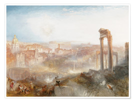 Póster  Modern Rome - Joseph Mallord William Turner
