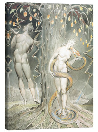 Lienzo  Adán y Eva - William Blake