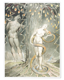 Póster  Adán y Eva - William Blake
