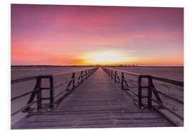 Cuadro de PVC  Long jetty at the beach of St. Peter Ording - Dennis Stracke