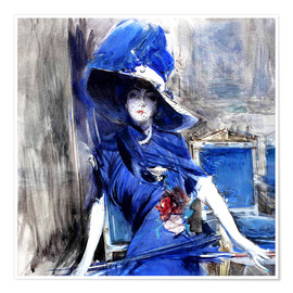 Póster Diva in blue