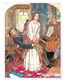 Póster  The Awakening Conscience - William Holman Hunt
