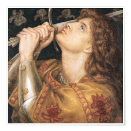 Póster  Knight with sword - Dante Charles Gabriel Rossetti