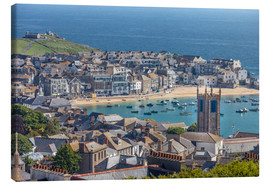 Lienzo  Overlooking St. Yves in Cornwall, Engalnd) - Christian Müringer