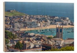 Cuadro de madera  Overlooking St. Yves in Cornwall, Engalnd) - Christian Müringer