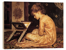 Cuadro de madera  Study at a Reading Desk - Frederic Leighton