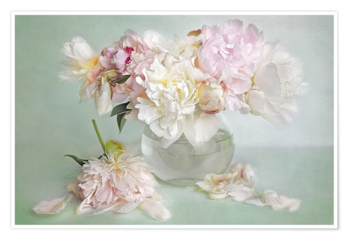 Póster still life with peonies