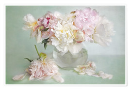 Póster  still life with peonies - Lizzy Pe