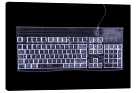 Lienzo  Computer keyboard, simulated X-ray - Mark Sykes