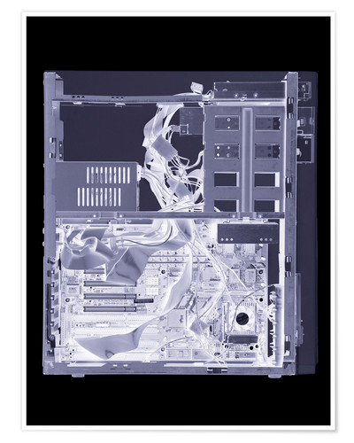 Póster Computer, simulated X-ray