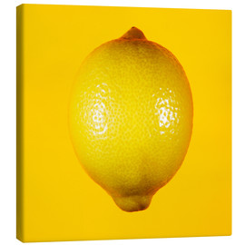 Lienzo  Lemon against yellow background - Mark Sykes