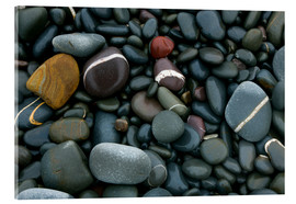 Cuadro de metacrilato  Pebbles on a beach - Keith Wheeler